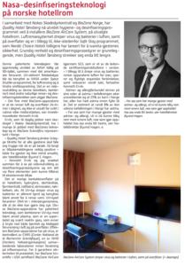 HRR 5-2020 - Nasa-desinfiseringsteknologi på norske hotellrom