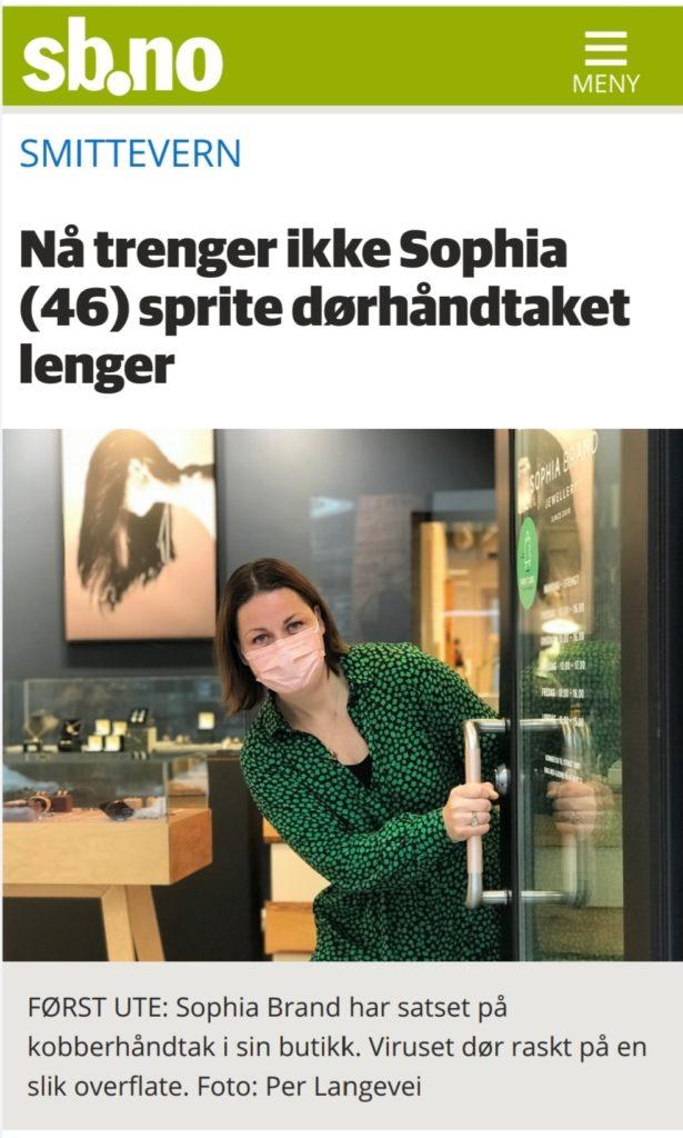 Nå trenger ikke Sophia (46) sprite dørhåndtaket lenger