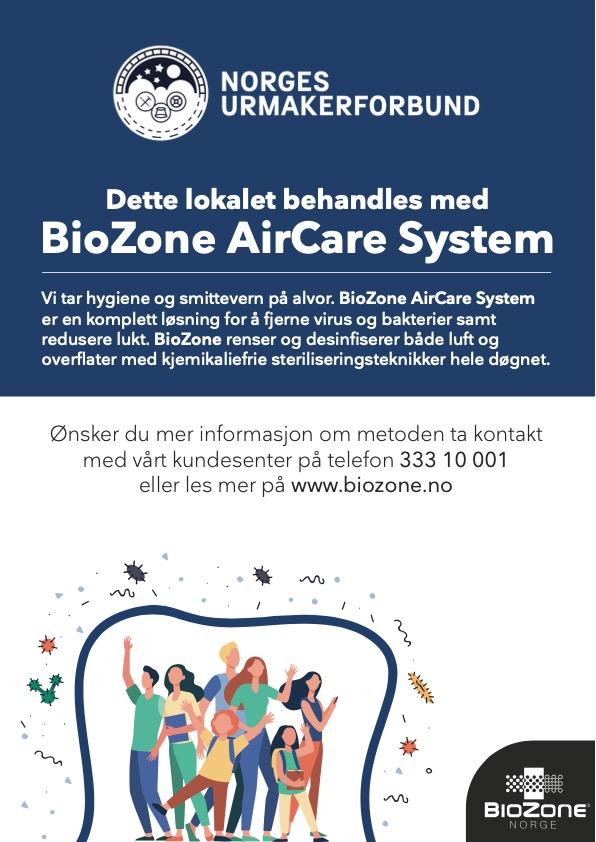 Infoskilt - Norges Urmakerforbund